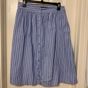 Who What Wear Button Up Midi Skirt